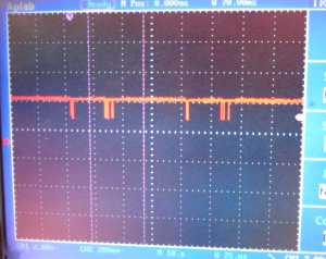 Here are the pair of Command Signals captured on teh Oscilloscope
