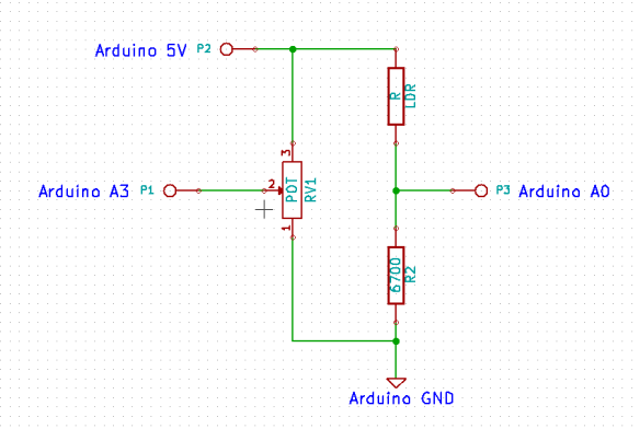 Voltage Divider Application in Light Sensitive Trigger