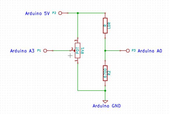 Voltage Divider Application in Light Sensitive Trigger