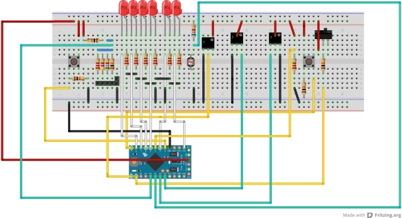 Breadboard design using Fritzing