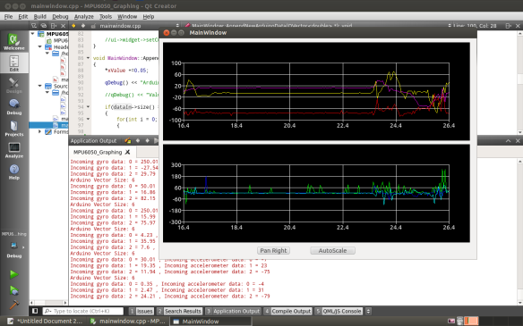Receiving data in Qt from an MPU-6050 6 DOF Accelerometer and Gyro sensor using the Arduinotalker class