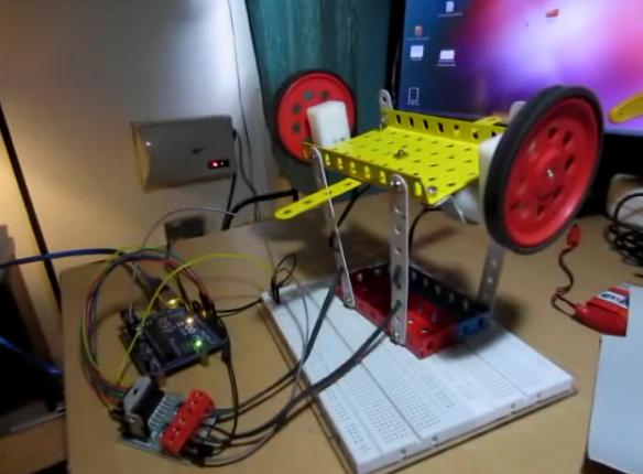 DC motor control under test