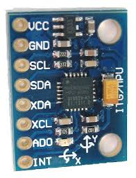 MPU6050 from Invensense. 6 DOF sensor that can be used to determine attitude