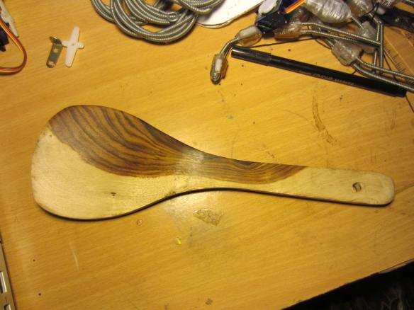 I settled on a wooden spoon from the Sunday Market.