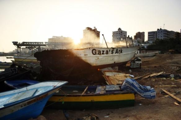 Gaza Ark after an Israeli air strike