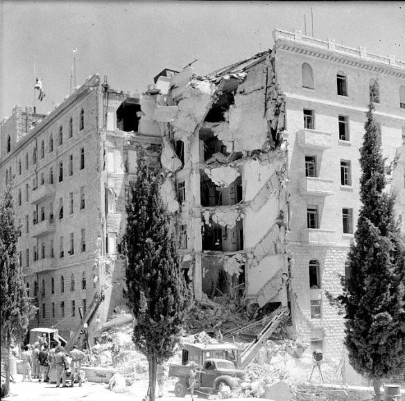King David Hotel. Blown up by the IRgun in 1946 under the orders of Menachem Begin