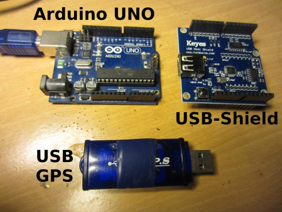 USB Shield to interface GPS with Arduino