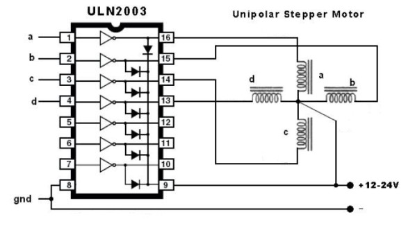 Connections for a ULN2003A